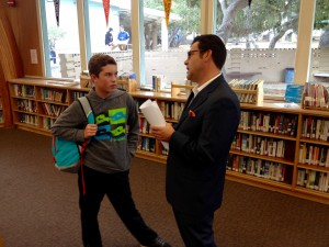 Theodore Balestreri II shares experience with a Student